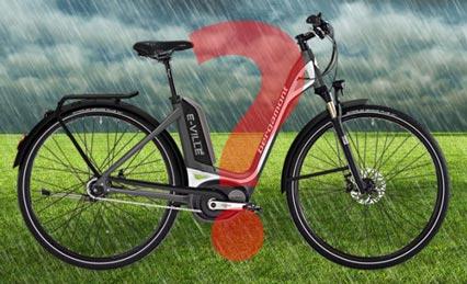 faire du vélo électrique sous la pluie ?