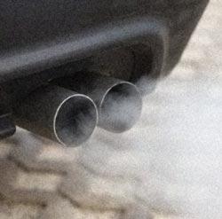 les cyclistes exposés aux gaz d'échappement ?
